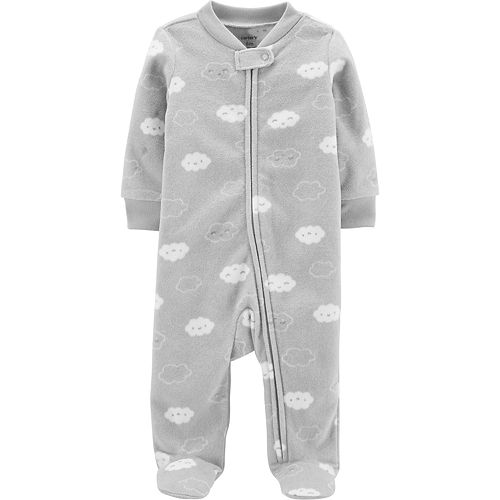 Baby Carter's Clouds Zip-Up Fleece Sleep & Play