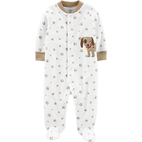 Baby Carter's Dog Snap-Up Fleece Sleep & Play