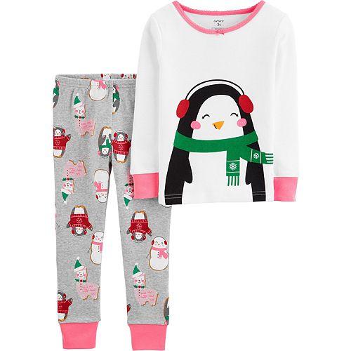Toddler Girl Carter's 2-Piece Penguin Snug Fit Cotton PJs