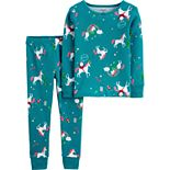 Toddler Girl Carter's 2-Piece Christmas Unicorn Snug Fit Cotton PJs