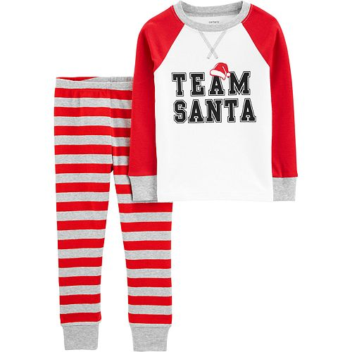 Toddler Boy Carter's 2-Piece Team Santa Snug Fit Cotton PJs