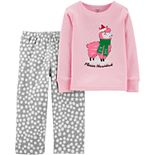 Toddler Girl Carter's 2-Piece Fleece Navidad Snug Fit Cotton & Fleece PJs