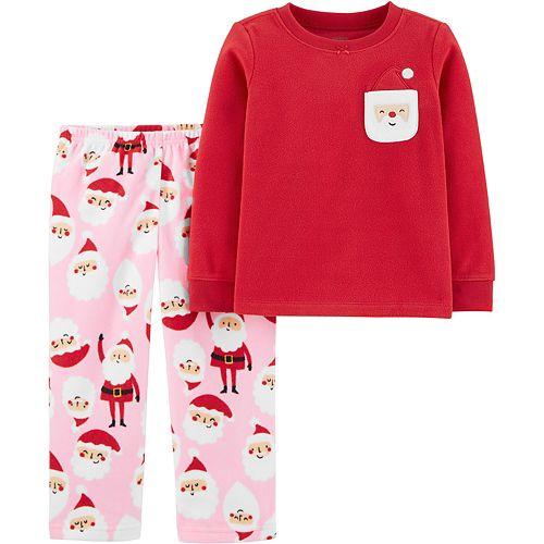 Toddler Girl Carter's 2-Piece Christmas Santa Fleece PJs