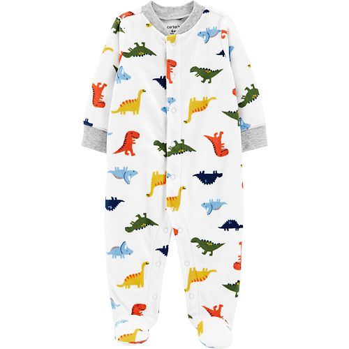 Baby Boy Carter's Dinosaurs Snap-Up Fleece Sleep & Play