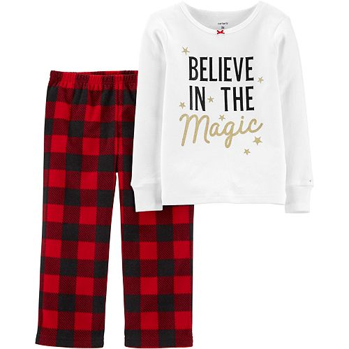 Toddler Girl Carter's 2-Piece Christmas Magic Snug Fit Cotton & Fleece PJs