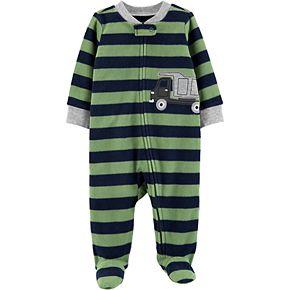 Baby Boy Carter's Truck Zip-Up Fleece Sleep & Play