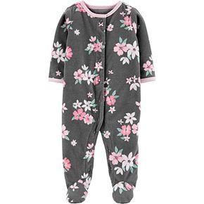 Baby Girl Carter's Floral Snap-Up Fleece Sleep & Play