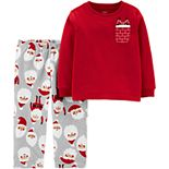 Toddler Boy Carter's 2-Piece Christmas Santa Fleece PJs