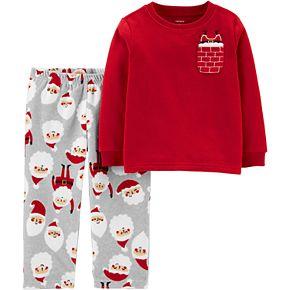 Toddler Boy Carter's 2-Piece Christmas Santa Fleece PJs