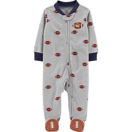 Baby Boy Carter's Football Zip-Up Fleece Sleep & Play