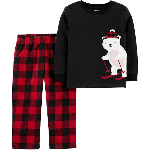 Toddler Boy Carter's 2-Piece Polar Bear Fleece PJs