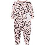 Baby Girl Carter's Cat Zip-Up Fleece Sleep & Play