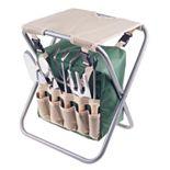 Pure Garden Folding Garden Stool & Tools 7-piece Set