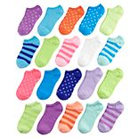 Girls 4-16 Delia's 20-pack No-Show Socks