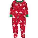 Toddler Girl Carter's 1-Piece Christmas Unicorn Fleece Footie PJs