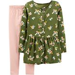 Girls 4-8 Carter's 2-Piece Floral Viscose Top & Legging Set