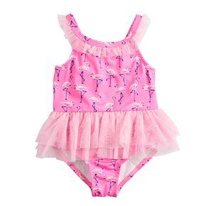 Baby Girl Penny M Flamingo Tutu One-Piece Swimsuit