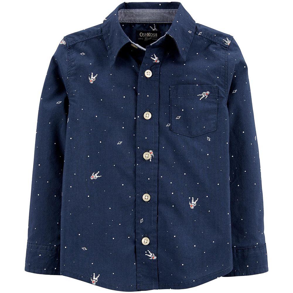 Toddler Boy OshKosh B'gosh® Astronaut Button-Front Shirt
