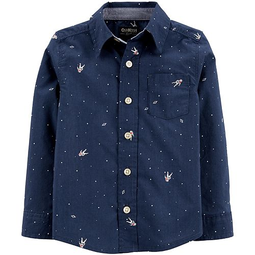 Toddler Boy OshKosh B'gosh® Astronaut Button-Front Shirt