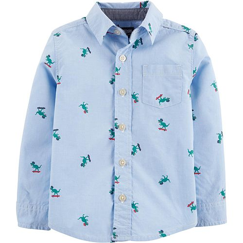 Toddler Boy OshKosh B'gosh® Dinosaur Button-Front Shirt