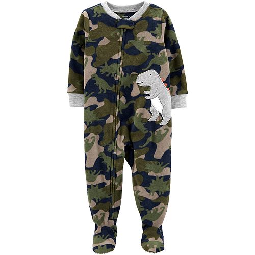 Toddler Boy Carter's 1-Piece Dinosaur Fleece Footie PJs