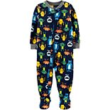 Toddler Boy Carter's 1-Piece Monster Fleece Footie PJs