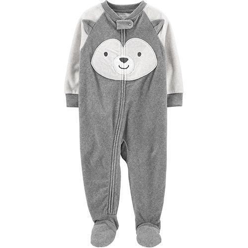 New Carter/'s 1-Piece Sport Fleece Pajama PJs Footie Sleeper Toddler Boy