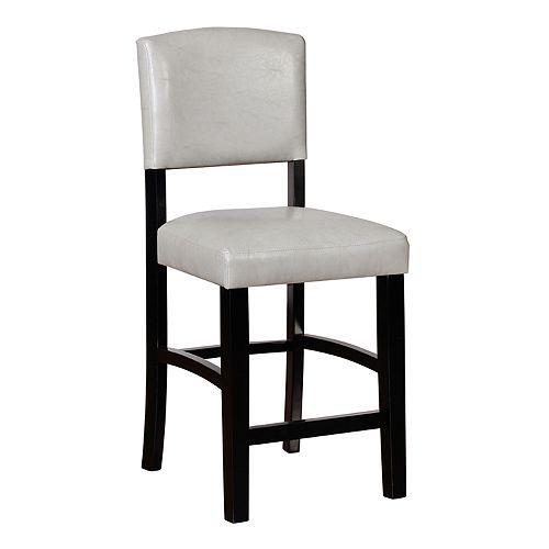 Amazing Linon Monaco Gray Counter Stool Lamtechconsult Wood Chair Design Ideas Lamtechconsultcom