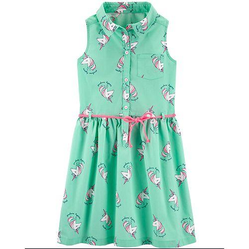 Girls 4-14 Carter's Unicorn Shirt Dress