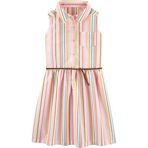 Girls 4-14 Carter's Striped Shirt Dress