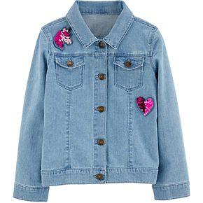 Girls 4-12 Carter's Sequin Denim Jacket