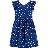 Girls 4-14 Carter's Polka Dot Bow Dress