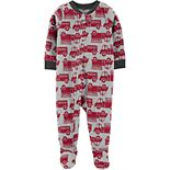 Baby Boy Carter's 1-Piece Firetruck Fleece Footie PJs