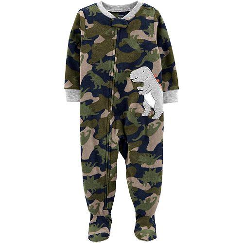 Baby Boy Carter's 1-Piece Dinosaur Fleece Footie PJs