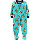 Baby Boy Carter's 1-Piece Bear Fleece Footie PJs