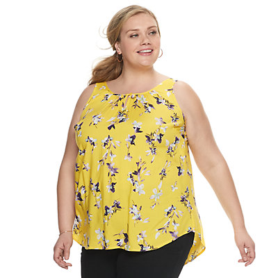Plus Size EVRI Shirred Tank
