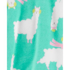 Baby Girl Carter's 1-Piece Llama Fleece Footie PJs