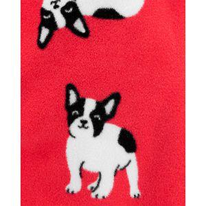 Baby Girl Carter's 1-Piece French Bulldog Fleece Footie PJs