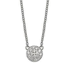 PRIMROSE Cubic Zirconia Disc Necklace