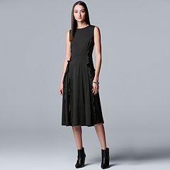 Women's Simply Vera Vera Wang Ruffle A-Line Dress