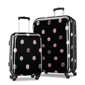 American Tourister Minnie Mouse Lux Dots Hardside Spinner Luggage