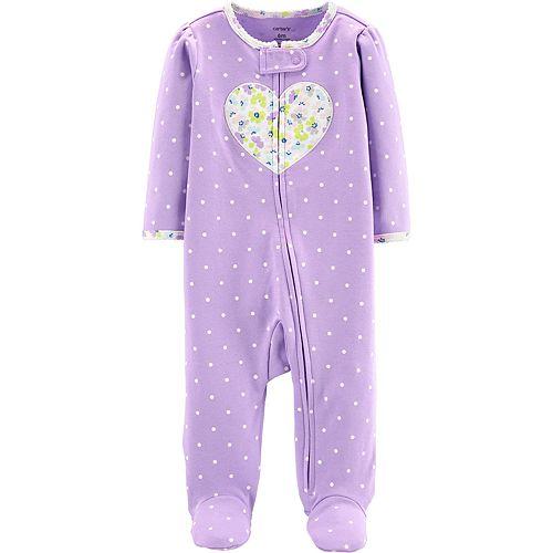 Baby Girl Carter's Floral Heart Sleep & Play