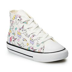 Converse Chuck Taylor All Star Girls' Rainbow and Unicorn Hi Top Sneakers