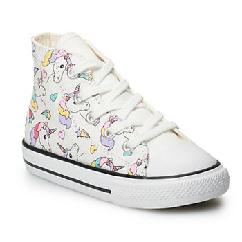 64842b9c17 Converse Chuck Taylor All Star Girls' Rainbow and Unicorn Hi Top Sneakers