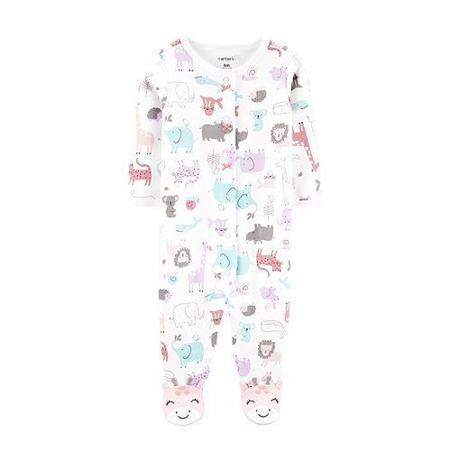 Baby Girl Carter's Safari Animals Sleep & Play