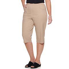 Plus Size Croft & Barrow® Pull-On Capris