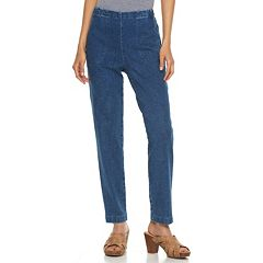 Petite Croft & Barrow® High Waisted Pull-On Jeans