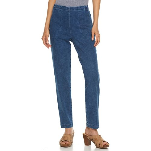 Petite Croft & Barrow® Pull-On Jeans