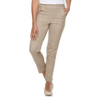 Petite Croft & Barrow® Classic Pull-On Tapered-Leg Pants