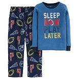 Boys 4-12 Carter's Top & Fleece Bottoms Pajamas